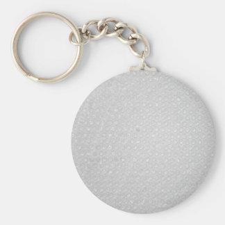 Pequeña textura del plástico de burbujas llavero redondo tipo pin