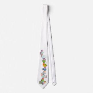 Pequeña torre divertida del pájaro, lazo corbata personalizada
