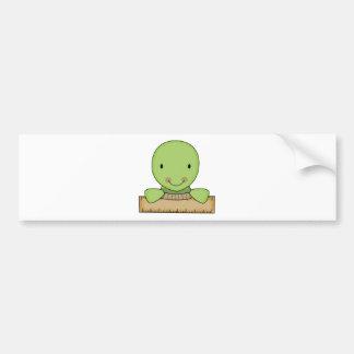 pequeña tortuga de la escuela de la regla pegatina para auto