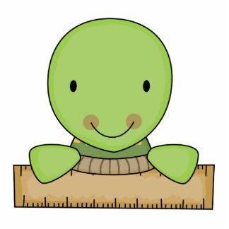 pequeña tortuga de la escuela de la regla escultura fotografica