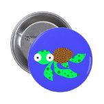 Pequeña tortuga de mar tonta pins