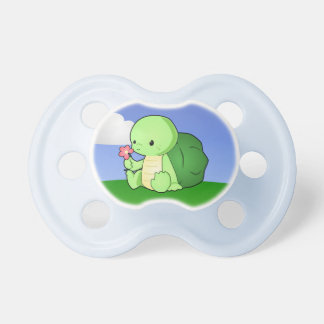 Pequeña tortuga linda chupetes de bebe