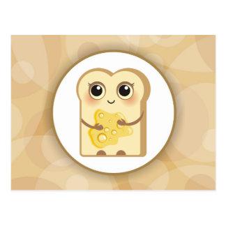 Pequeña tostada linda - miel tarjeta postal