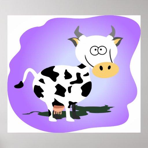 Pequeña vaca de Cutie Póster