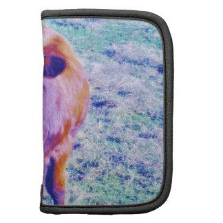 Pequeña vaca púrpura en hierba del trullo de Paset Organizador