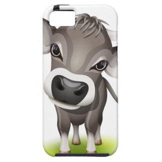 Pequeña vaca suiza iPhone 5 protectores