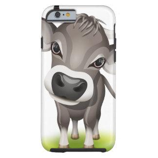 Pequeña vaca suiza funda resistente iPhone 6