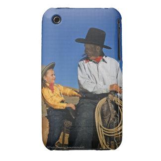 Pequeña vaquera carcasa para iPhone 3