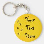 Pequeñas abejas llavero personalizado