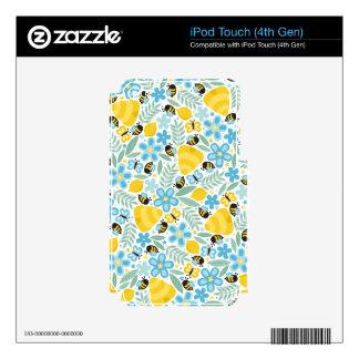 Pequeñas abejas ocupadas iPod touch 4G skins