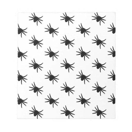 Pequeñas arañas negras bloc de notas