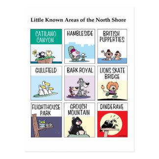 Pequeñas áreas sabidas de la tarjeta del norte de postales