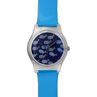 pequeñas ballenas lindas relojes