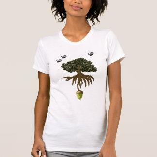 Pequeñas bellotas que publican las camisetas poleras