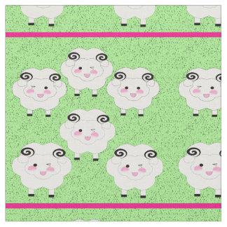 Pequeñas cabras frescas ilustradas dibujo animado telas