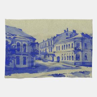 Pequeñas calles en la ciudad vieja toalla