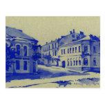 Pequeñas calles en la ciudad vieja tarjetas postales
