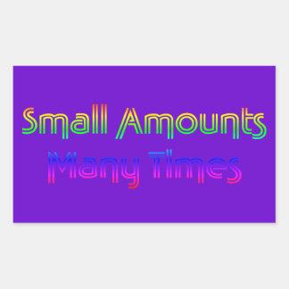 Pequeñas cantidades - muchas veces rectangular altavoz