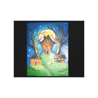 Pequeñas casas impresión en lienzo