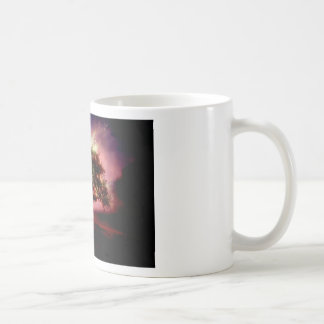 Pequeñas chispas minúsculas taza de café