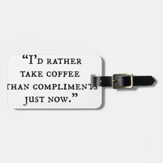 Pequeñas citas de las mujeres etiquetas bolsa