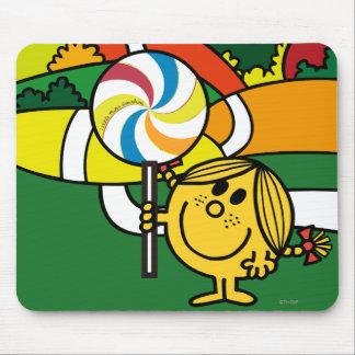 Pequeñas colinas y Lollypop de Srta. Sunshine el   Alfombrillas De Ratón