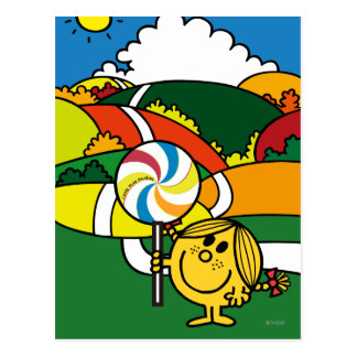 Pequeñas colinas y Lollypop de Srta. Sunshine el | Postales