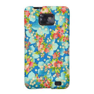 pequenas de COM Flores del padrão Samsung Galaxy SII Fundas