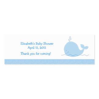 Pequeñas ducha de la ballena azul/etiqueta del fav tarjetas de visita mini