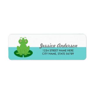 Pequeñas etiquetas lindas del remite del Froggy Etiqueta De Remite