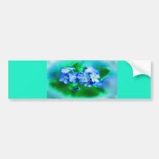 Pequeñas flores azules pegatina para auto