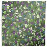 Pequeñas flores bonitas servilleta imprimida