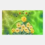 Pequeñas flores de Mommas Pegatina Rectangular
