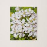 Pequeñas flores salvajes blancas rompecabezas