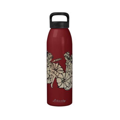Pequeñas hadas lindas botella de agua reutilizable