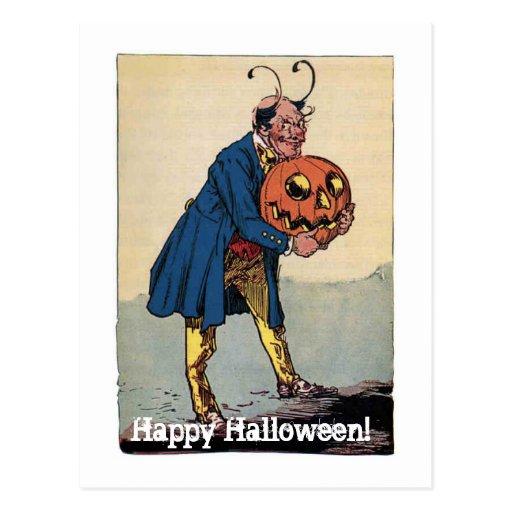 Pequeñas historias del mago de la onza Halloween Postales