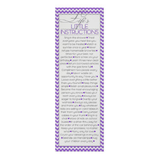 Pequeñas instrucciones de Lifes (lila) Póster