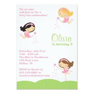 Pequeñas invitaciones adorables de las hadas invitación 12,7 x 17,8 cm