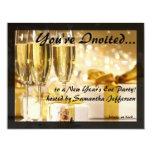 Pequeñas invitaciones burbujeantes doradas del invitación 10,8 x 13,9 cm