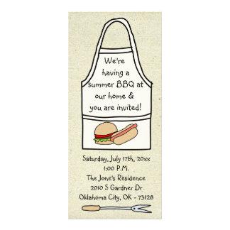 pequeñas invitaciones de la barbacoa de wobblies tarjeta publicitaria