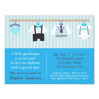 Pequeñas invitaciones de la ducha del bebé del invitación 10,8 x 13,9 cm