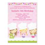 Pequeñas invitaciones de la fiesta de cumpleaños anuncio