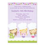Pequeñas invitaciones de la fiesta de cumpleaños comunicados
