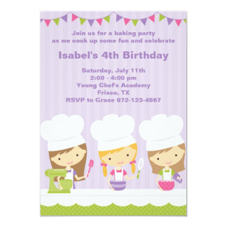 """Pequeñas invitaciones de la fiesta de cumpleaños invitación 5"""" x 7"""""""