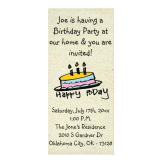 pequeñas invitaciones del cumpleaños de wobblies tarjeta publicitaria a todo color