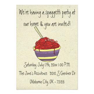 pequeñas invitaciones del fiesta del spagetti de w anuncios