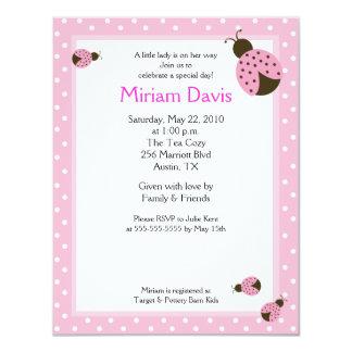 Pequeñas invitaciones rosadas de la fiesta de invitación 10,8 x 13,9 cm