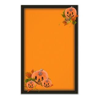Pequeñas Jack-o-Linternas lindas de Halloween Papeleria Personalizada