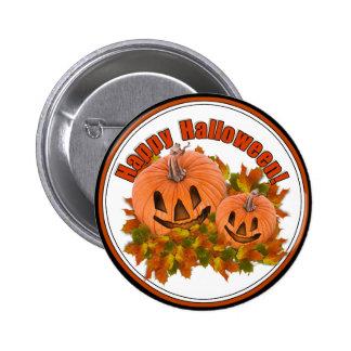Pequeñas Jack-o-Linternas lindas de Halloween Pin Redondo De 2 Pulgadas