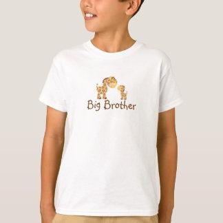 Pequeñas jirafas hermano mayor playera